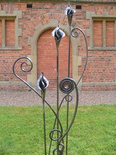 ~Blacksmith made Cala Lilies & Wiggle Stems~ Made by Artist Blacksmith, Adrian Stapleton of Trinity Forge.   Visit him at trinityforge.co.uk