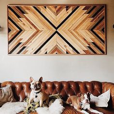 Looking for a statement piece? Go for an intricate wooden wall hanging.
