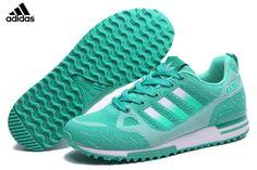 d6b09577bab33 Women s Adidas Originals ZX 750 Flyknit Shoes Mint Silver