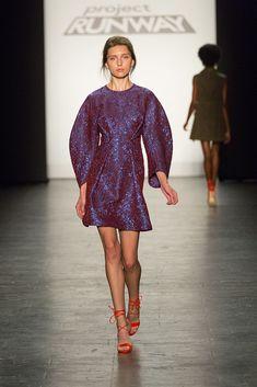 Project Runway Season 15 Ep. 14 Purple Long Sleeve Dress by Roberi Parra