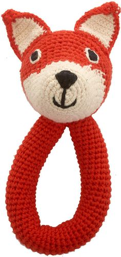 Anne-Claire Petit - Crochet Fox Ring Rattle - Mandarin #ad