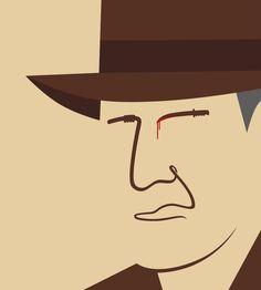 Rostro Indiana Jones - Fedora, látigo, machete - http://www.facebook.com/NomaBar