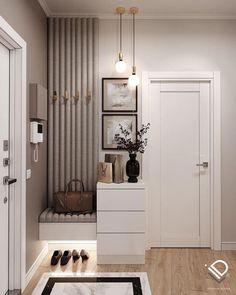 Home Hall Design, Home Interior Design, Interior Architecture, House Design, Modern Apartment Decor, Apartment Interior, Apartment Design, Home Entrance Decor, Home Decor