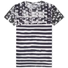 Balmain Slim-fit Printed Cotton-jersey T-shirt - Midnight Blue In Black Balmain Collection, Balmain Clothing, Balmain Men, Tee Shirts, Tees, Sportswear Brand, Striped Tee, Printed Cotton, T Shirts