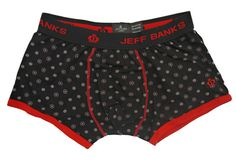 Jeff Banks London Fashion Trunk Briefs - Black/Red Print – Moyheeland Traders