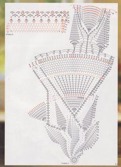 Crochet Angel Pattern, Crochet Tablecloth Pattern, Free Crochet Doily Patterns, Crochet Doily Diagram, Lace Patterns, Filet Crochet, Crochet Doilies, Crochet Stitches, Crochet World
