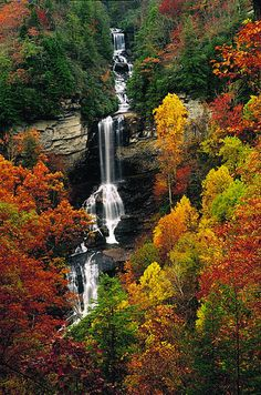 21 Spectacular Places All People Who Love Fall Colors Must Visit 21 Insanely Beautiful Spots To See Fall Colors Across America Fall Pictures, Nature Pictures, Fall Pics, Beautiful Waterfalls, Beautiful Landscapes, Autumn Scenes, Autumn Nature, Seen, Fauna