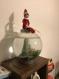 Elfie fishing