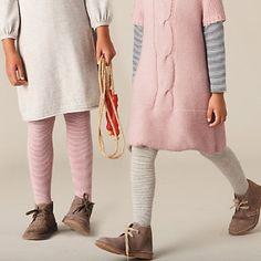 girls classic stripe tights