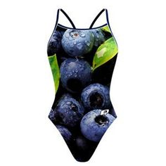 Blueberry Skinny Strap. Farm-to-table is a thing, why not Farm-to-pool? @qswimwear #qswimwear