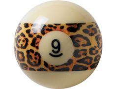 Claw your way to victory in every game of 9 ball with this unique ball from Aramith. A feisty leopard print band encases the number 9 on this standard sized white ball to add an aggressive flair to any table.