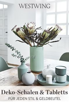 Decor, Summer Decor, Interior, Decorated Jars, Lyngby, Home Decor, Vase, Dining Room Decor, Flower Vases