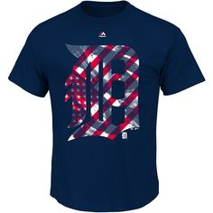 Detroit Tigers Spirited Stripes T-Shirt
