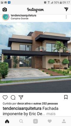 The color of the house Dream House Exterior, Dream House Plans, Modern House Plans, House Front Design, Modern House Design, Residential Architecture, Architecture Design, Facade House, House Layouts