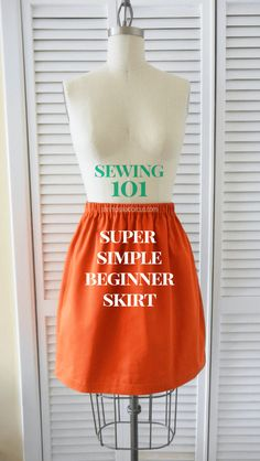 This beginner skirt sewing tutorial is the perfect way to break into the world of sewing your own fashion. You don't need a pattern!