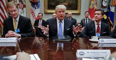 Why Trump's Meetings With CEOs Seeking Mergers Trouble Observers The president has flouted decades-old norms of antitrust by directly speaking with the executives of companies seeking to merge.