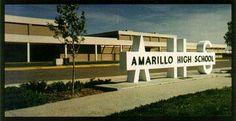 The new Amarillo High School. Amarillo, Texas. Blow Sand!!