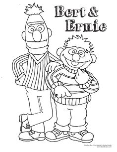 Bert and Ernie coloring sheet!  #friends #classic #friendshipday