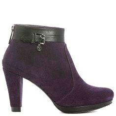 Colette Sol Ankle boot city purple suede black belt