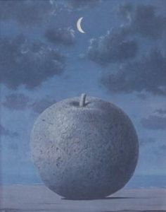 Rene Magritte - Artist XXè - Surrealism - Midnight apple More Pins Like This At : FOSTERGINGER @ Pinterest.