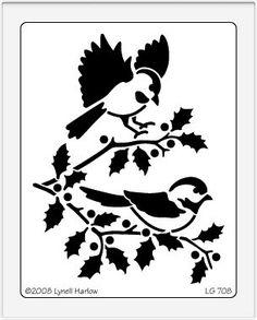 Dreamweaver Giant Brass Stencil - Chickadees,$10.00