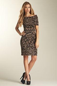 Jessica Simpson Sleeveless Print Sweater Dress