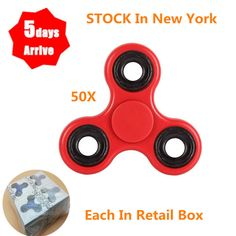 Other Wholesale Sporting Goods 26423: Wholesale 50Pcs Tri Hand Spinner Fidget Toy 608Rs Bearing Retail Box Red -> BUY IT NOW ONLY: $76.75 on eBay!