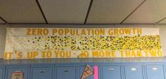 Sign in Indiana School Promotes Population Control: 'No More Than Two' Children