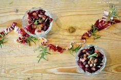 One in A Million: Insalatina tiepida di radicchio, pancetta e borlotti_ Warm salad of radicchio, bacon and beans with balsamic vinegar and rosemary