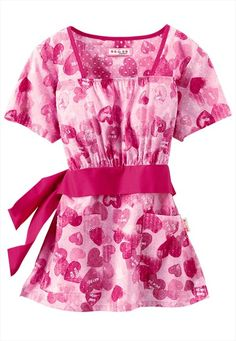 Koi Audrey Be Mine empire waist print scrub top: I like thinking about what I'm gonna wear in the future :)
