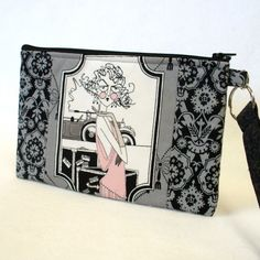 Hey, I found this really awesome Etsy listing at https://www.etsy.com/listing/202552996/the-ghastlies-wristlet-clutch-purse