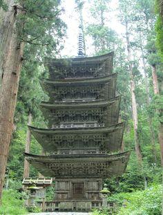 羽黒山五重塔(Pagoda at Mt. Haguro- National Treasure in Yamagata)