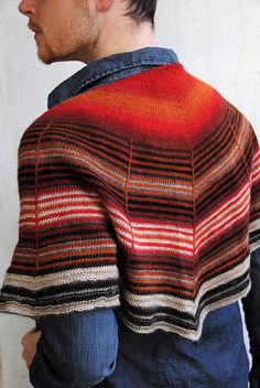 Daybreak by Stephen West. I have knit this shawl about five times...love it in noro or mochi!