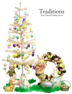 Easter Tree Ornaments | Easter Ornaments, finials, treetoppers and garlands for Easter Trees