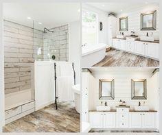 Farmhouse master bathroom #clayton #farmhouse #mobile #manufactured #home