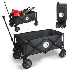 The Pittsburgh Steelers Adventure Wagon is great for getting your gear around while tailgating or BBQ day in the backyard and Steelers homegating.