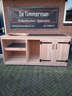 Bbq Stand, Bbq House, Big Green Egg Table, Grill Table, Kamado Grill, Garden Tool Storage, Garden Deco, Bbq Area, Outdoor Kitchen Design