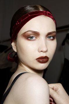 Shocker! Vampy Lipstick Will Be Popular Again This Fall: The best word we can think of to describe the beauty looks from Paris Haute Couture Fashion Week is dreamy (fantastical and far-fetched were close seconds).