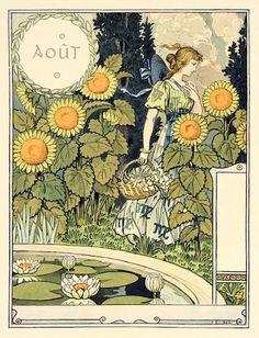 Eugène Grasset : Aout (August) at Davidson Galleries