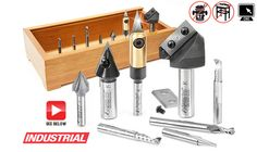 8-Pc CNC Signmaking Starter Router Bit Collection