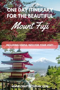 Mount Fuji in Japan is one of the most beautiful places we've ever been. In this article you can find where to see Mount Fuji, how to travel to Mount Fuji from Tokyo, how to travel around Mount Fuji, how to get to Chureito Pagoda from Lake Kawaguchiko, things to do at Mount Fuji, where to stay at Mount Fuji, an itinerary for a day trip to Mount Fuji and how to Climb Mount Fuji! #MountFuji #Japan