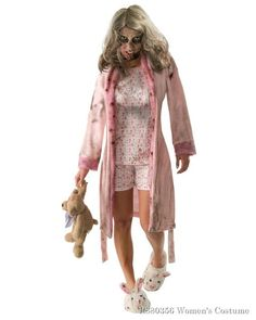 Walking Dead Little Girl Zombie Pajamas Costume Teen Zombies come in all shapes and sizes but like regular teens, zombie teens can be the wildest and hungriest of all! The zombie apoc Zombie Costume Women, Zombie Halloween Costumes, Halloween Ideas, Girl Costumes, Adult Costumes, Costumes For Women, Costume Ideas, The Walking Dead, Walking Dead Costumes
