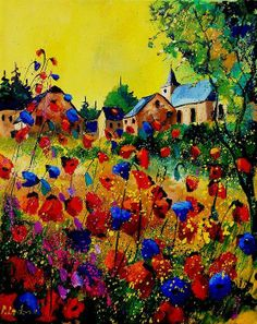 So cute! I like when splatters are added to a painting.
