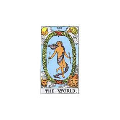 Intuitive Tarot - The World ❤ liked on Polyvore featuring tarot