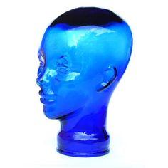 Skulptur i form af kvinde glashoved