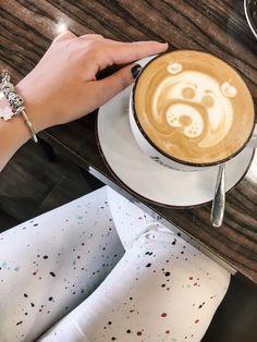 Coffee bear ❤️, latte art.