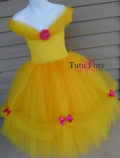 Beauty and the Beast Tutu Dress, Belle Inspired Tutu Dress, Beauty and the Beast Tutu, Beauty and the Beast Costume, Princess Belle Costume Beauty and the Beast Tutu Dress Southern Belle Dress by TutuFoxy Belle Tutu, Princess Belle Costume, Princess Tutu Costumes, Princess Tutu Dresses, Beauty And The Beast Costume, Beauty And The Beast Party, Beauty Beast, Little Princess, Tulle Costumes