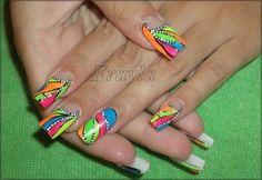 crazy by JelenaF - Nail Art Gallery nailartgallery.nailsmag.com by Nails Magazine www.nailsmag.com #nailart
