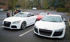 Ibis White Audi TT RS and Audi #WantAnR8 V10.