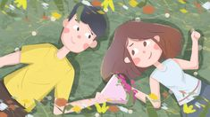 Green valentines day romantic sweet send flowers love couple llustration image Couple Illustration, Character Illustration, Cute Couple Pictures, Love Couple, Hug Cartoon, Chinese Valentine's Day, Valentines Day Couple, Send Flowers, Anniversary Sale